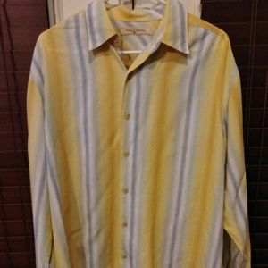 TOMMY BAHAMA Long Sleeve Shirt Mens Large Tencel